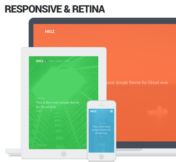 Higz — Simple Responsive Ghost Theme